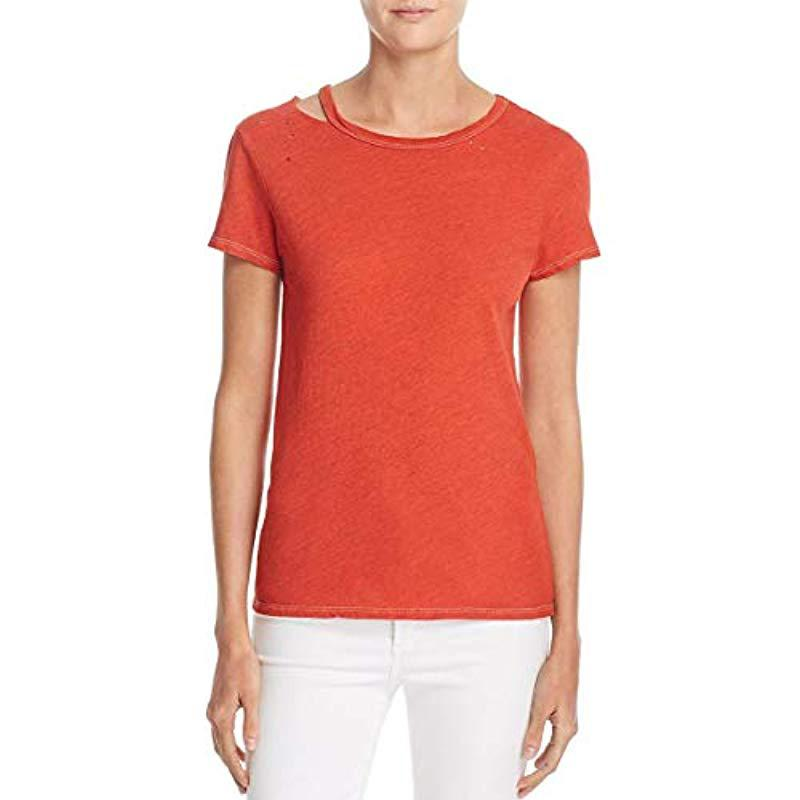 Pam /& Gela Womens S//s Destroyed Tee-f17
