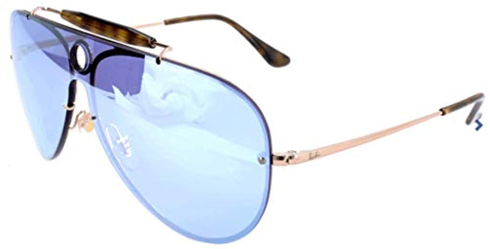 8b5ef6eccb84e Ray-Ban Blaze Shooter Sunglasses In Copper Silver Violet Mirror ...