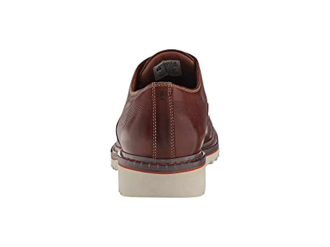 Rockport Leather Jaxson Cap Toe Shoes in Brown le 2 (Brown) for Men