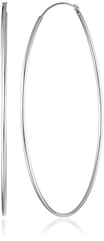 Argento Vivo Women S Metallic Silver Tone Large Endless Hoop Earrings
