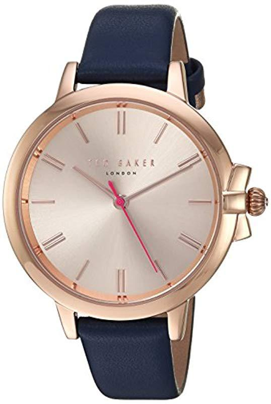 a8ade1788 Ted Baker. Women s  ruth  Quartz Stainless Steel And Leather Casual  Watchmulti