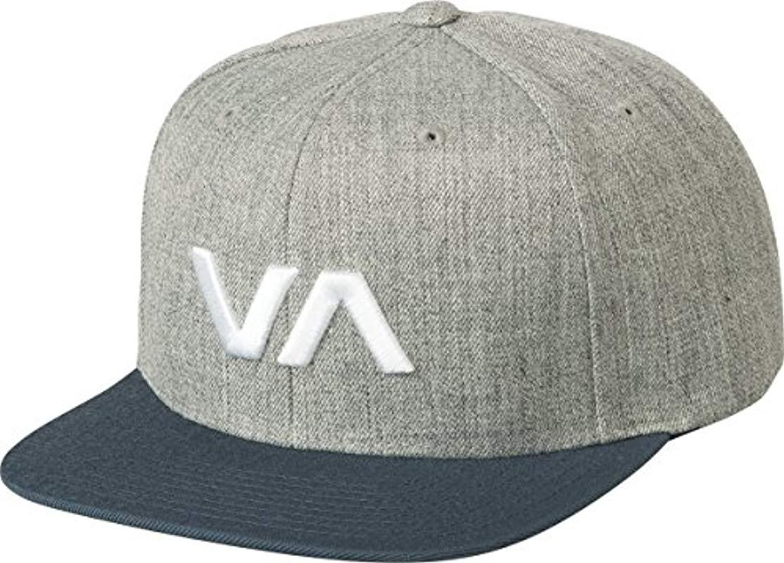 los angeles 30534 c92d1 ... italy lyst rvca va snapback ii hat in gray for men save 4 90bf8 1bb5f