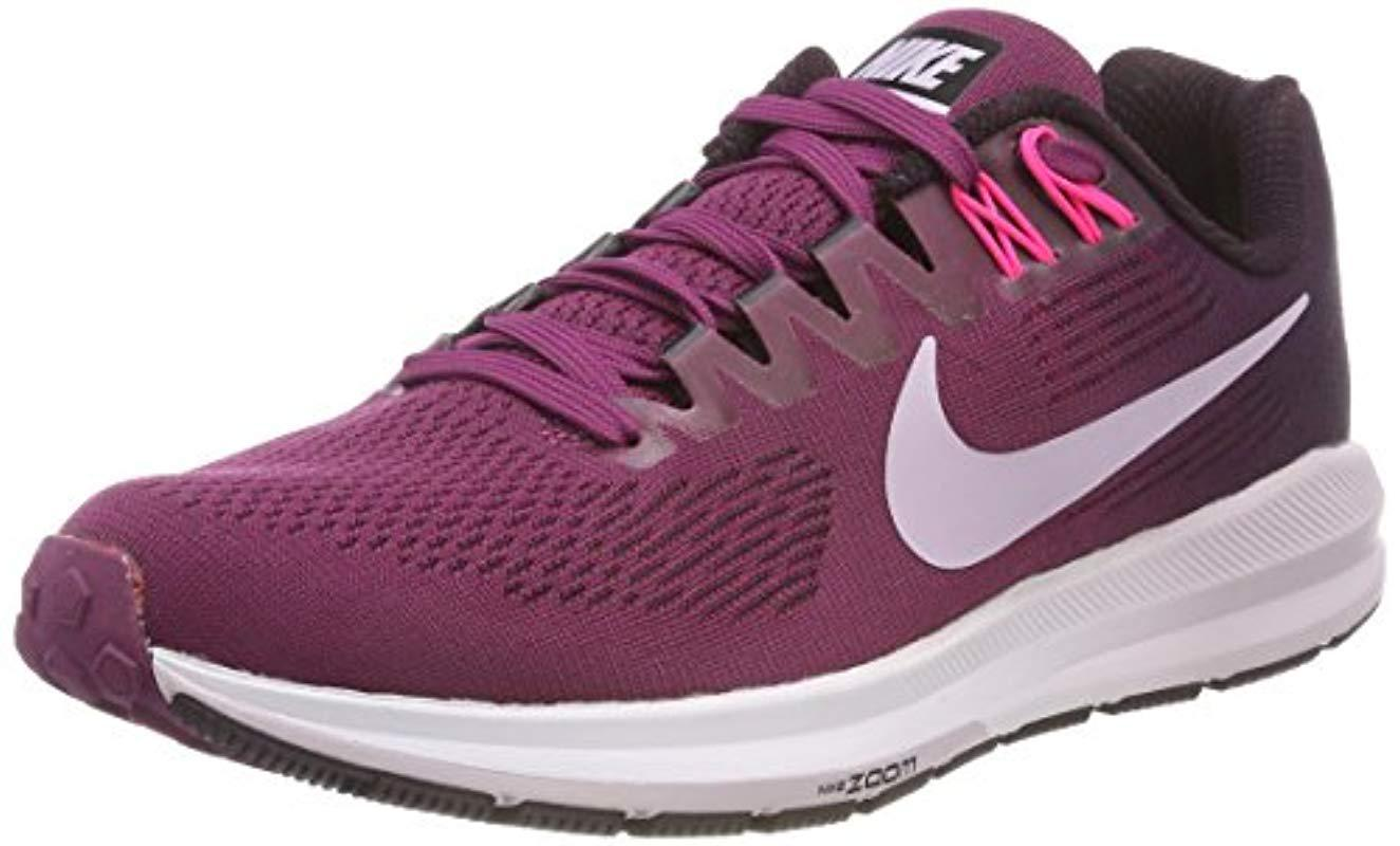 sports shoes 18ae1 d5174 Nike. Women s Purple  s W Air Zoom Structure 21 Running Shoes