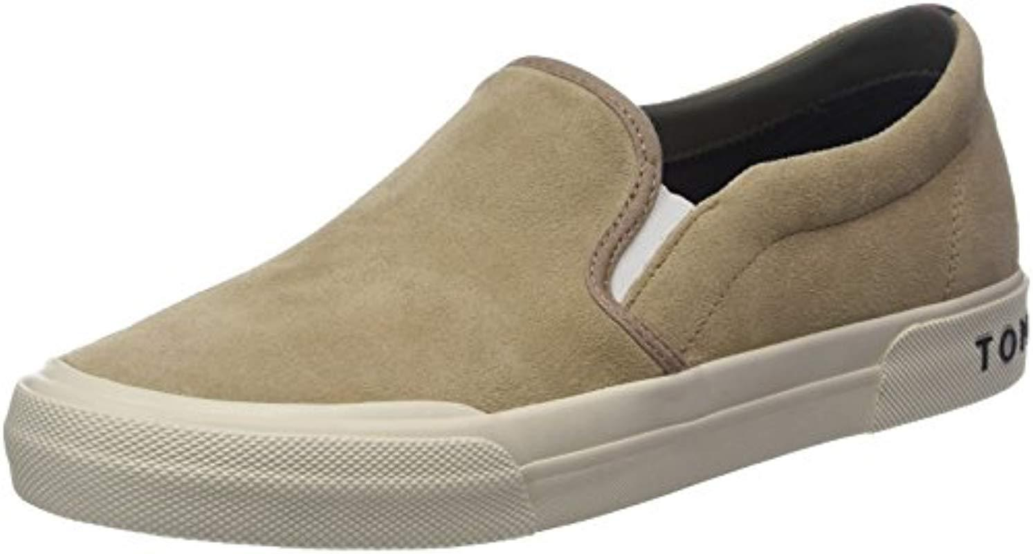 15ddd5cfa Tommy Hilfiger Heritage Suede Slip On Sneaker Low-top in Natural for ...