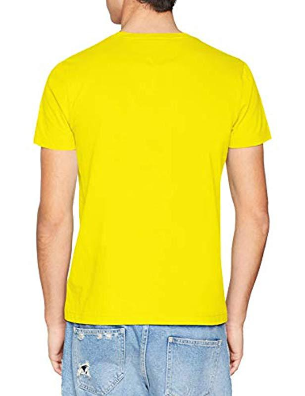 50c52fa1 Tommy Hilfiger Tommy Logo Tee T-shirt in Yellow for Men - Save 3% - Lyst