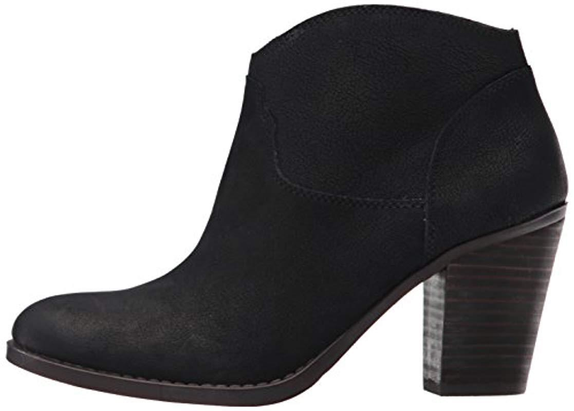 Lucky Brand Eller Leather Ankle Boots In Black Lyst