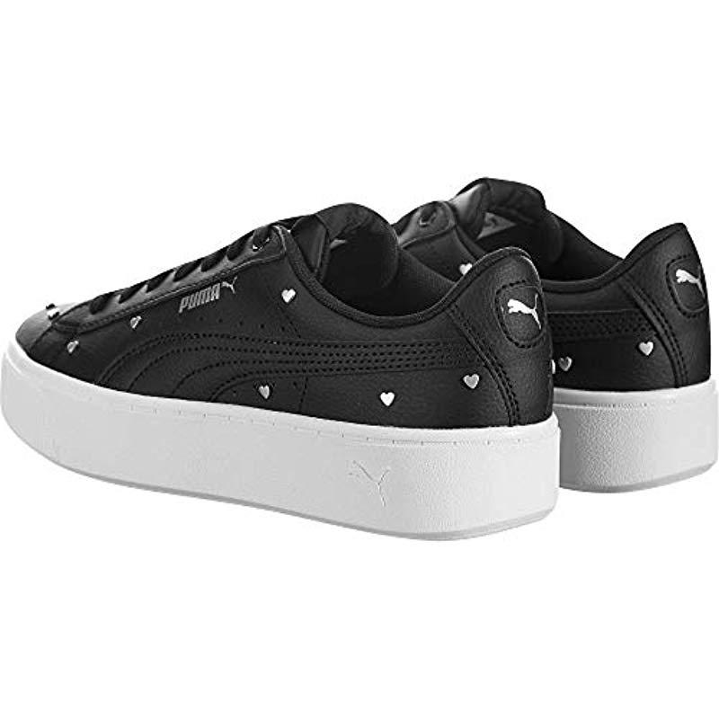 PUMA Leather Vikky Stacked Studs in