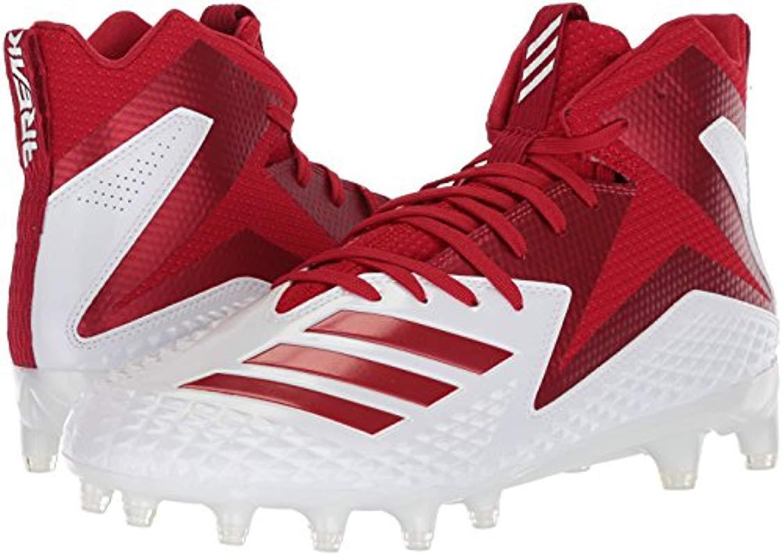 dbc49d80b3c90 Adidas Freak X Carbon Mid Football Shoe, White Power Red, 18 M Us for men