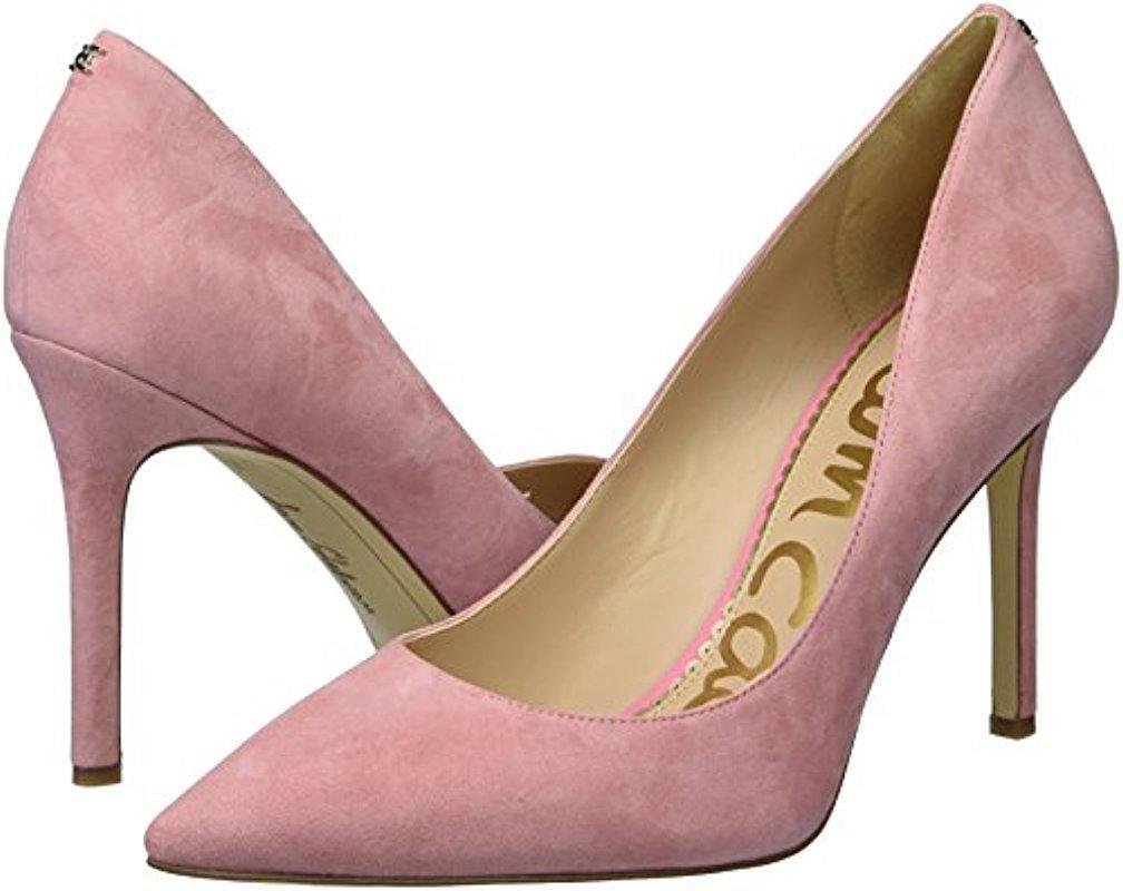 sam edelman pink suede pumps