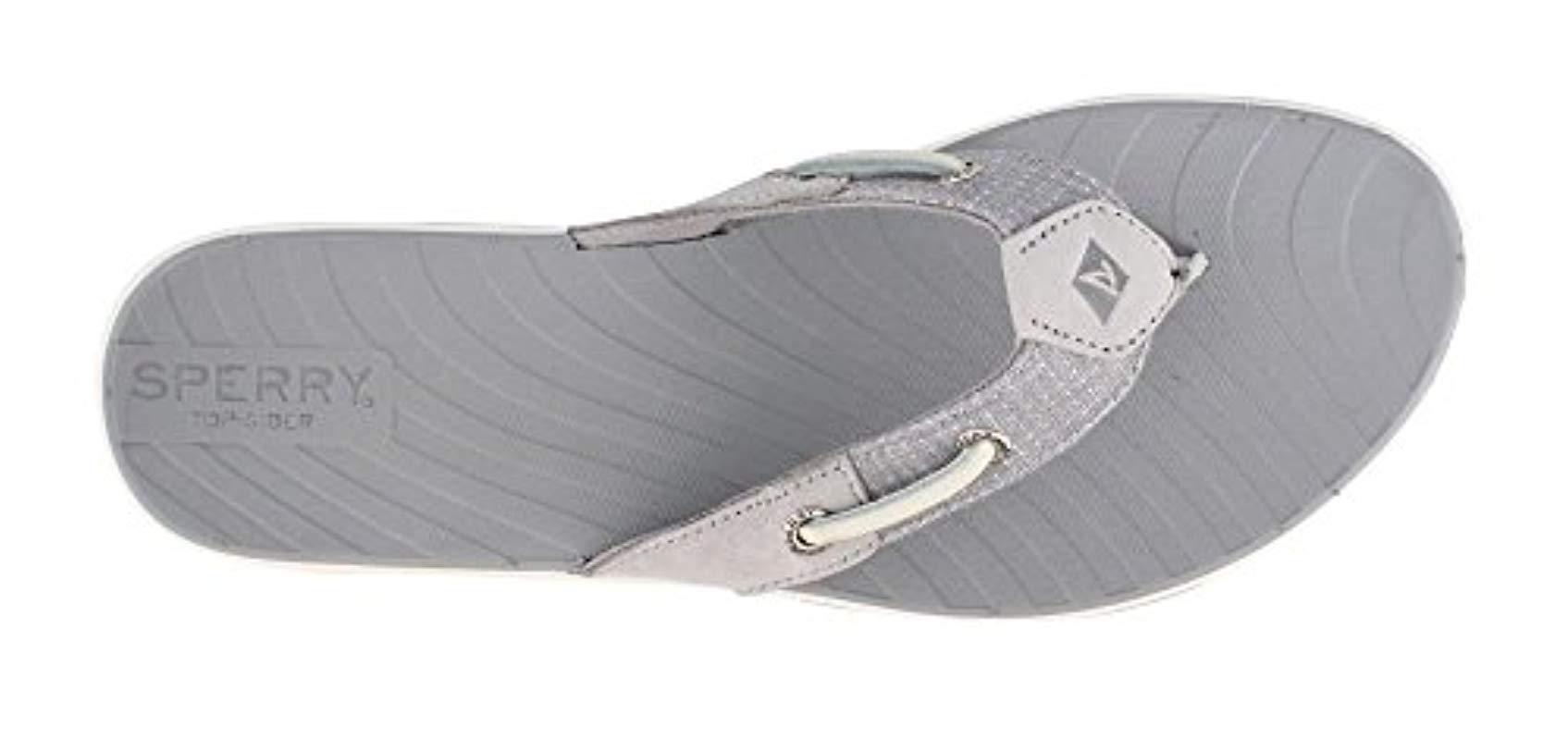 c4bb425e3a4fa Sperry Top-Sider - Gray Seabrook Surf Two-tone Flat Sandal - Lyst. View  fullscreen