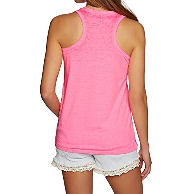 Superdry Baumwolle Burnout Pocket s Tank Vest in Pink