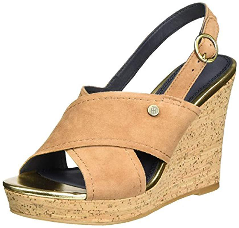 f41e41feb682f9 Tommy Hilfiger. Women s  s E1285del 6b Wedge Heels Sandals