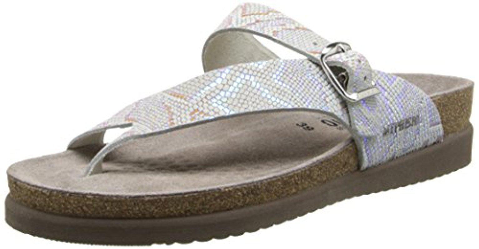 Mephisto. Women's Metallic Helen Thong Sandals