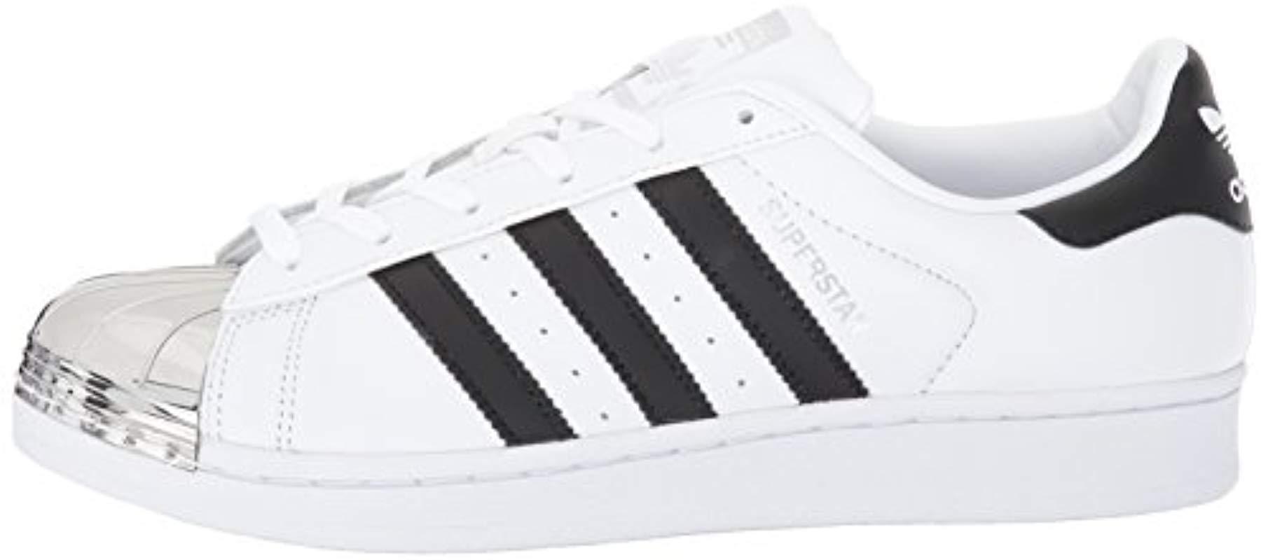 adidas Originals Leather Superstar Metal Toe W Skate Shoe Running ...