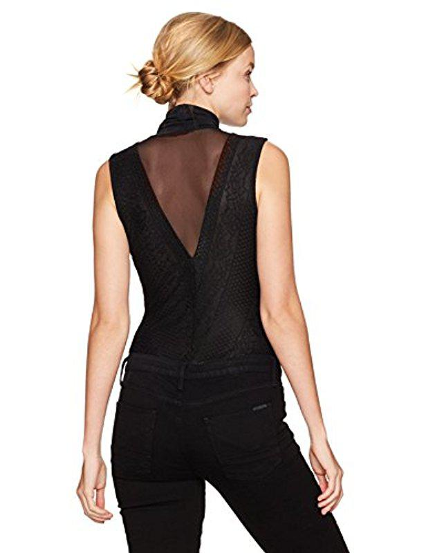 GUESS Womens Sleeveless Riva Bodysuit