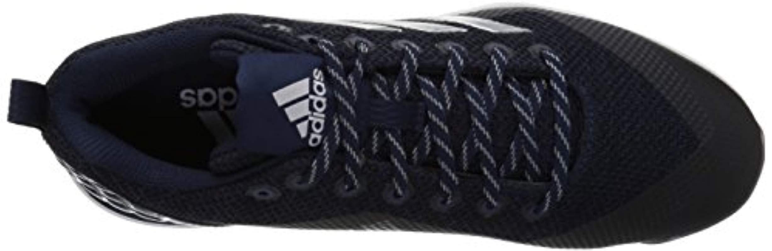 adidas S Poweralley 5 Fabric Low Top Lace Up Baseball Shoes in Blue for Men