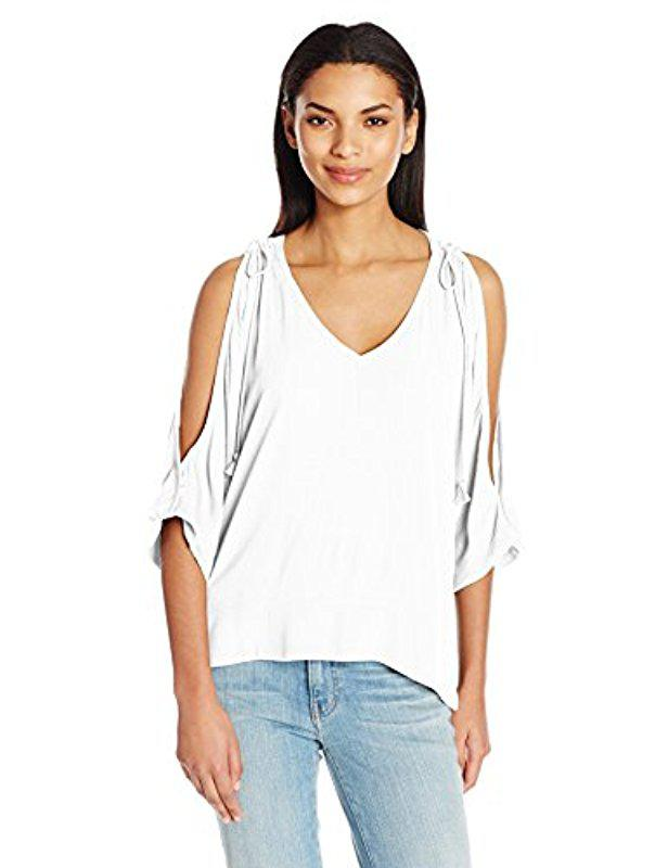 Cheap Sale Outlet Locations Cheap Sale Low Shipping Katella Drape Top in Cream Ella Moss Release Dates Online Cheap Sale Good Selling 100% Guaranteed Sale Online HWJ8Znk