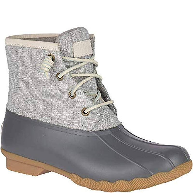 Saltwater Metallic Rain Boot in Grey