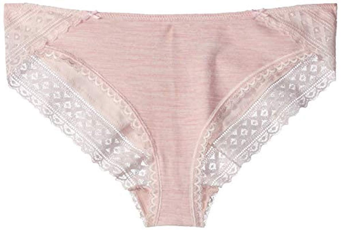Maidenform Women/'s Cotton Stretch Tanga NWT Heather Soft Pink