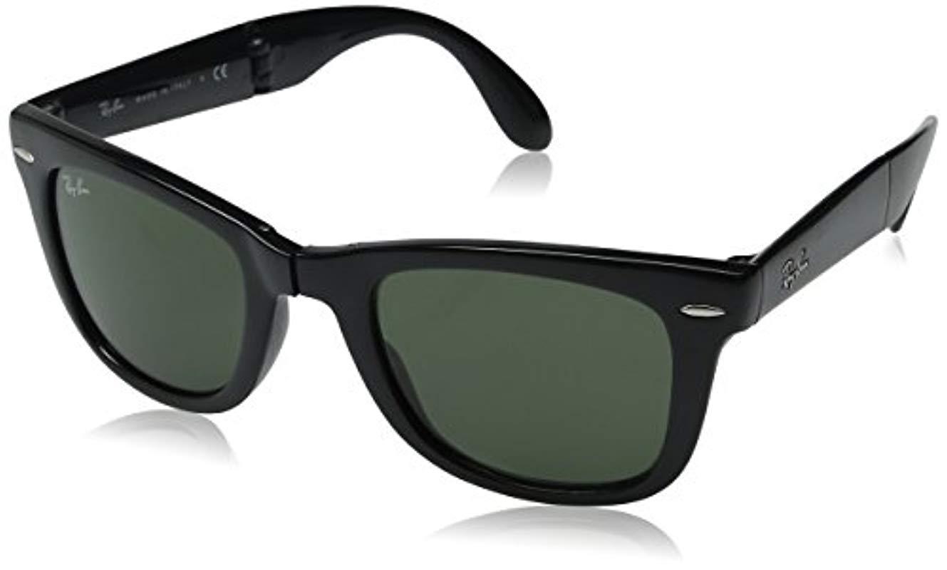 94c33bd243d3c Ray-Ban. Men s Black Rb4105 Wayfarer Folding Non-polarized Sunglasses 50mm