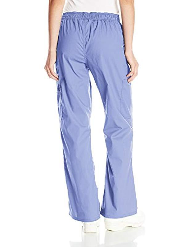 912c573139a Lyst - Dickies Eds Signature Stretch Mid-rise Moderate Flare Leg Pull-on  Pant-petite in Blue - Save 14%
