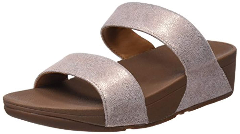 d3fc323e7bbaf Lyst - Fitflop Shimmy Suede Slide Sandal in Pink