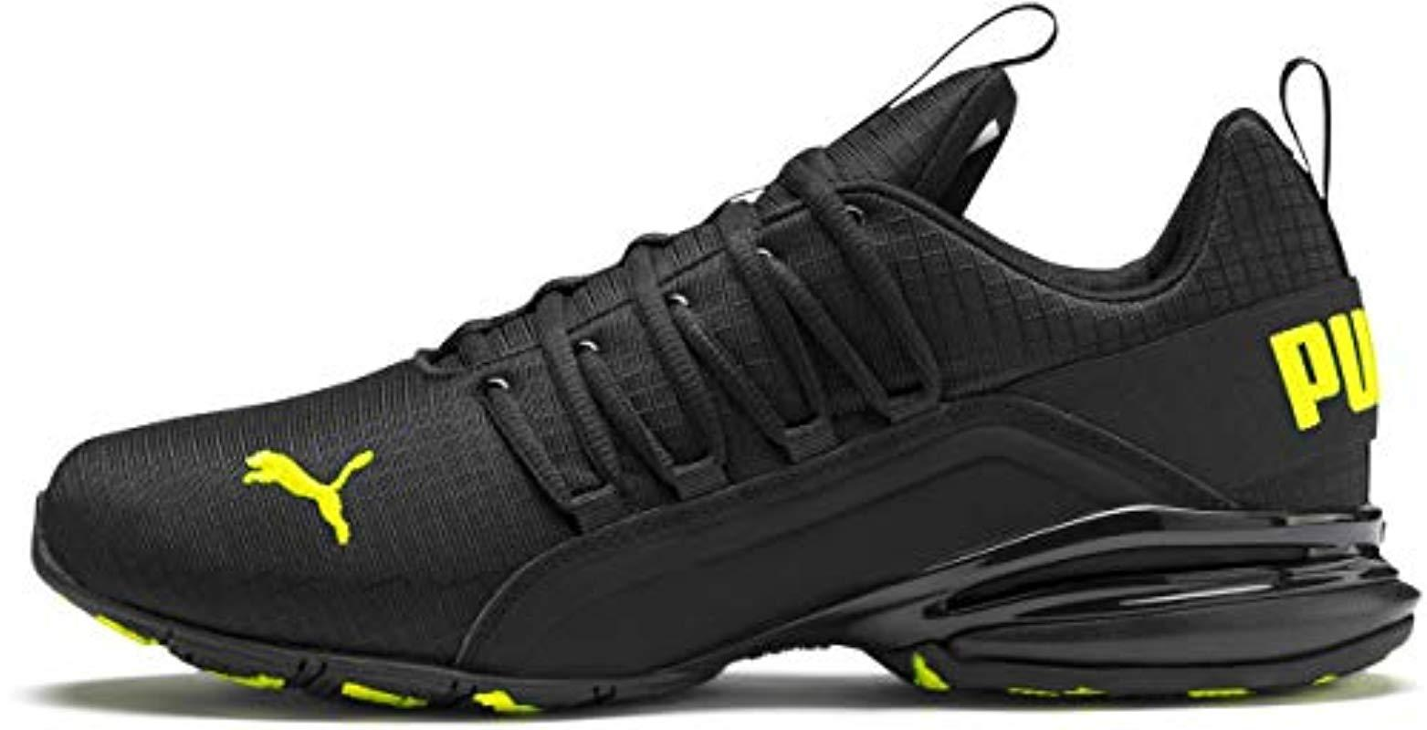 PUMA Rubber Axelion Sneaker, Black-yellow Alert, 10 M Us for Men ...
