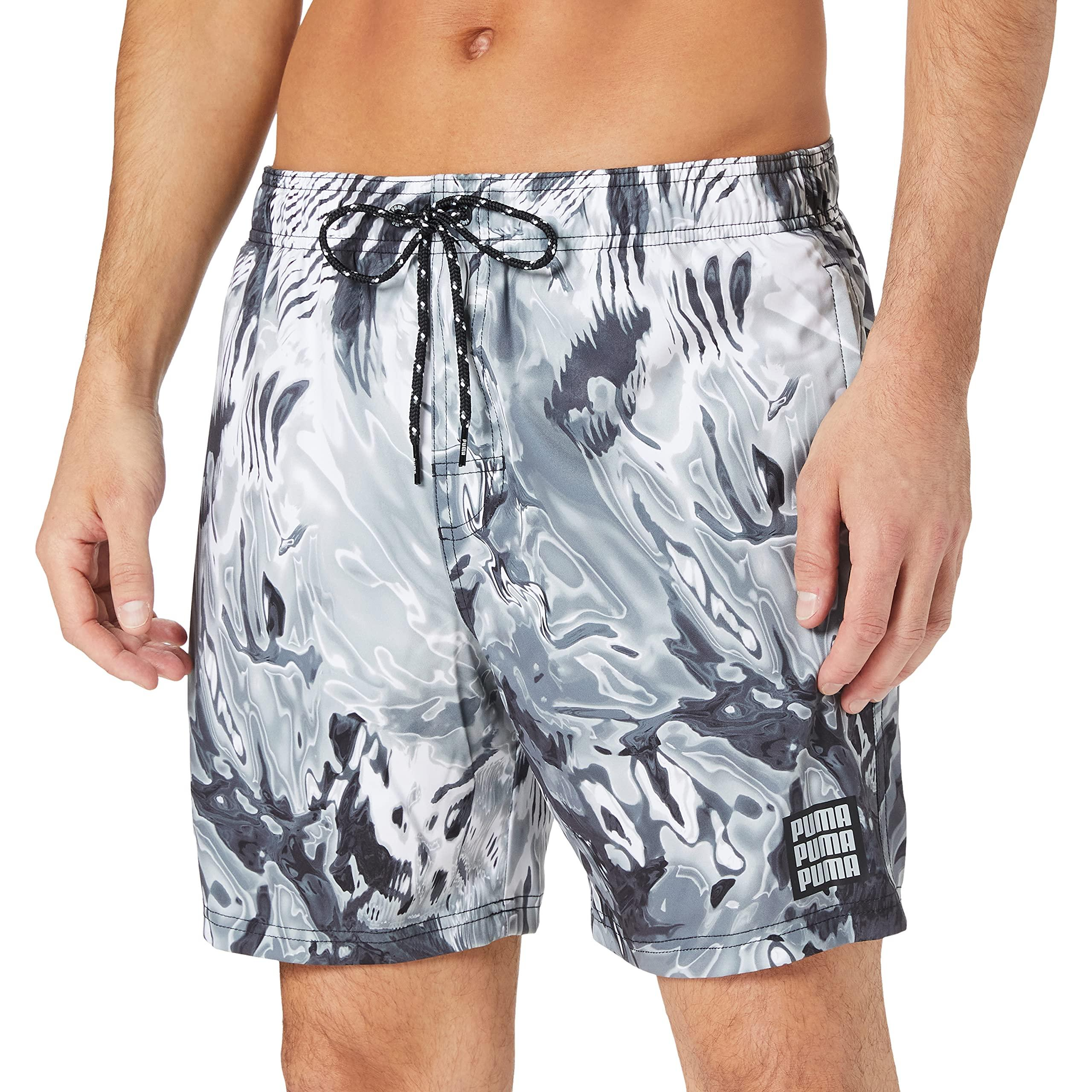 Swim Reflection All-Over-Print Mid Shorts Natation Synthétique ...