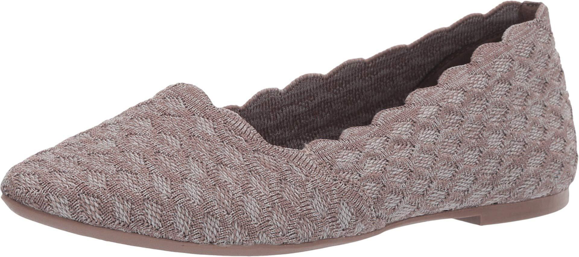 Cleo-scalloped Knit Skimmer Ballet Flat