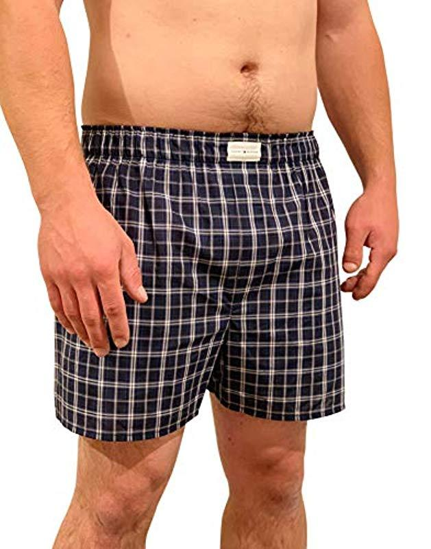3ba85db6b663 Lyst - Tommy Hilfiger 3 Pack Cotton Classics Woven Boxers in Blue for Men -  Save 14.705882352941174%