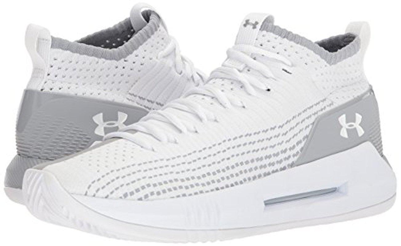 98638a14b8103 Men's White Ua Heat Seeker Basketball Shoes