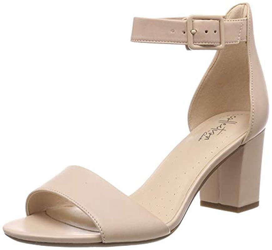 8bbabb53a4f Clarks - Natural Deva Mae Ankle Strap Sandals - Lyst. View fullscreen