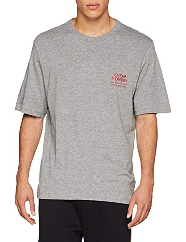 af25b174be86 Cheap Monday Boxer Tee Chpmnd Sender T-shirt in Gray for Men - Lyst