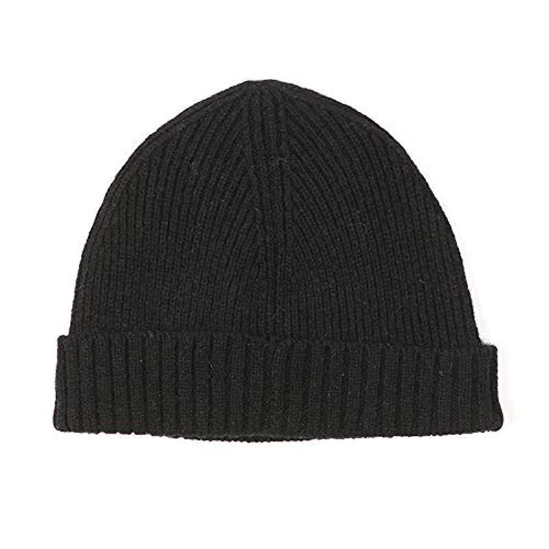 865d8673cca Gant Lambswool Ribbed Beanie Black in Black for Men - Lyst