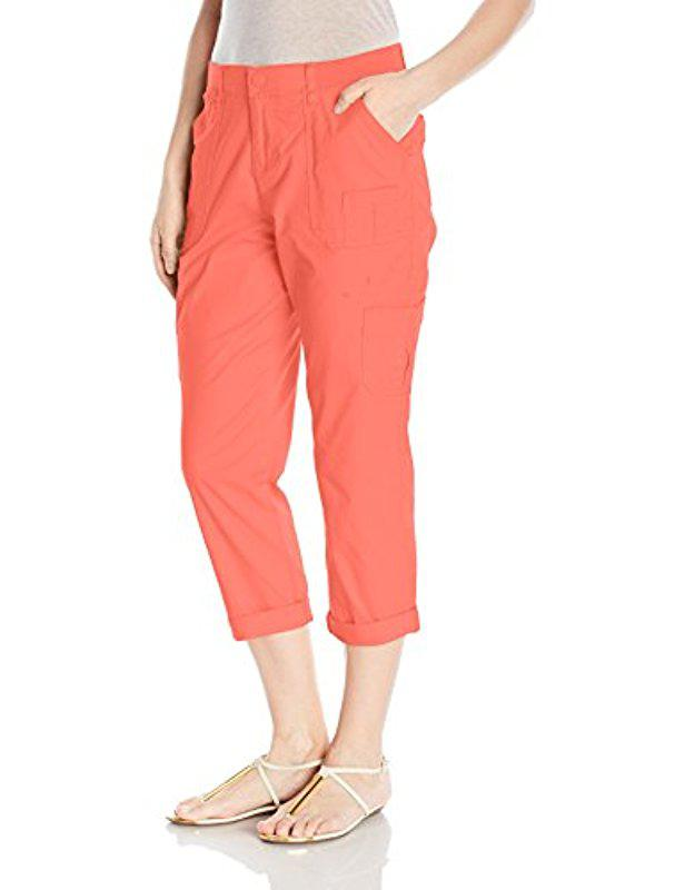 2257063910f Lyst - Lee Jeans Relaxed Fit Presley Knit Waist Capri Pant in Pink ...