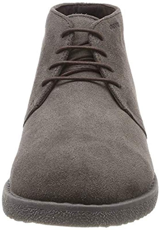 Disgusto Uva Infectar  Geox Suede U Brandled B in Brown for Men - Lyst