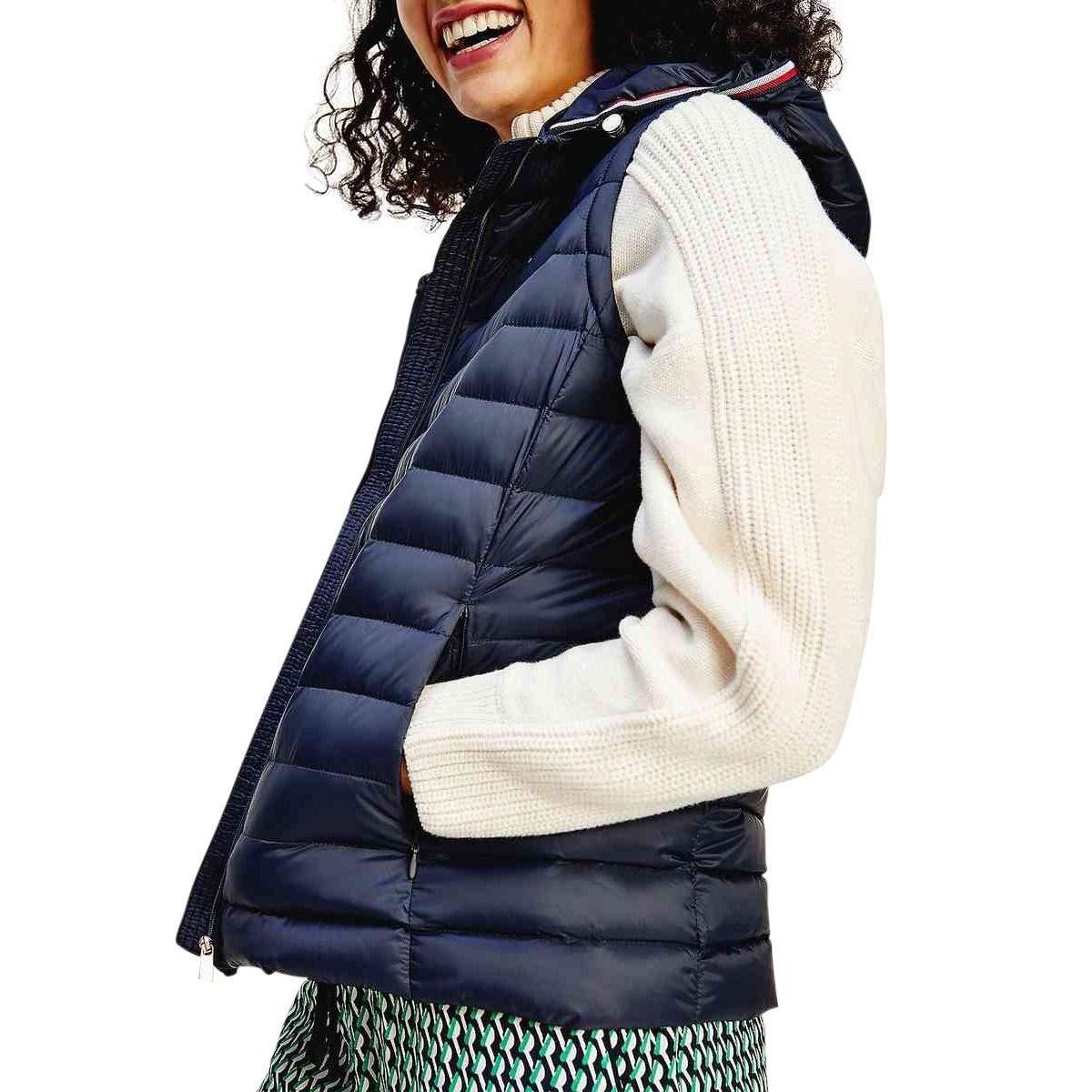 Tommy Hilfiger TH ESS LW Down Vest Chaleco con Forro para Mujer