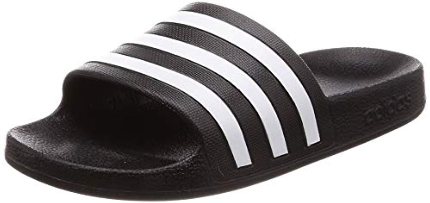 bef7dabb4 Adidas Unisex Adults  Adilette Aqua Beach   Pool Shoes in Black for ...