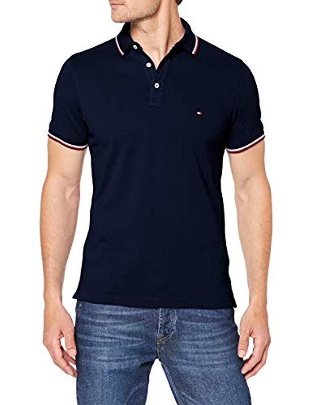 c19c86c3 Tommy Hilfiger 's Tommy Tipped Slim Polo Shirt Dark Blue in Blue for ...