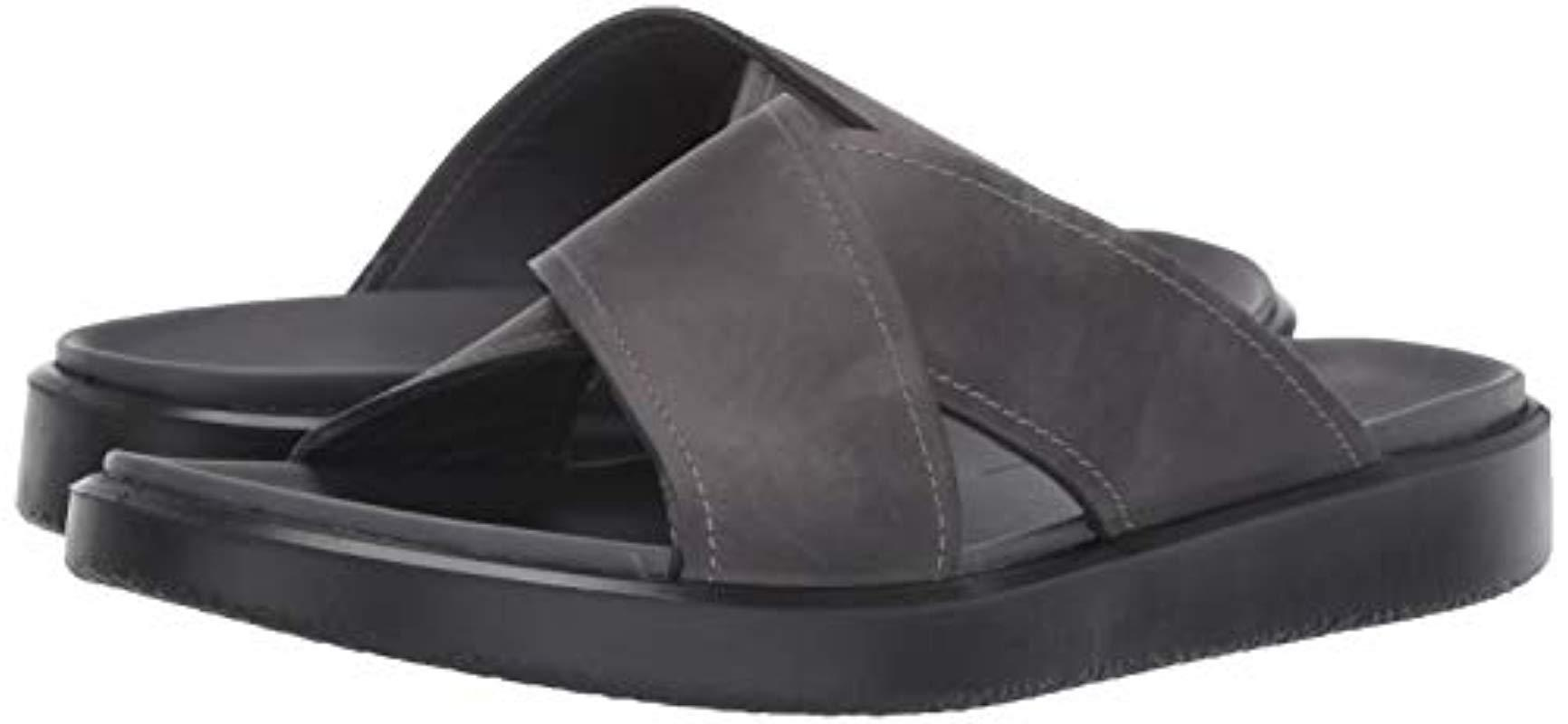 Ecco Flowt Lx Slide Flat Sandal in