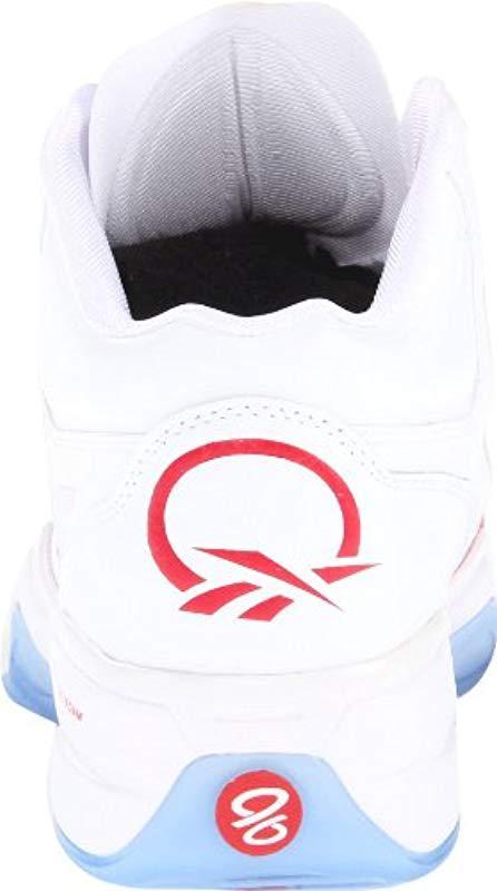 73e21686827a Reebok - White Q96 Crossexamine Basketball Shoe for Men - Lyst. View  fullscreen