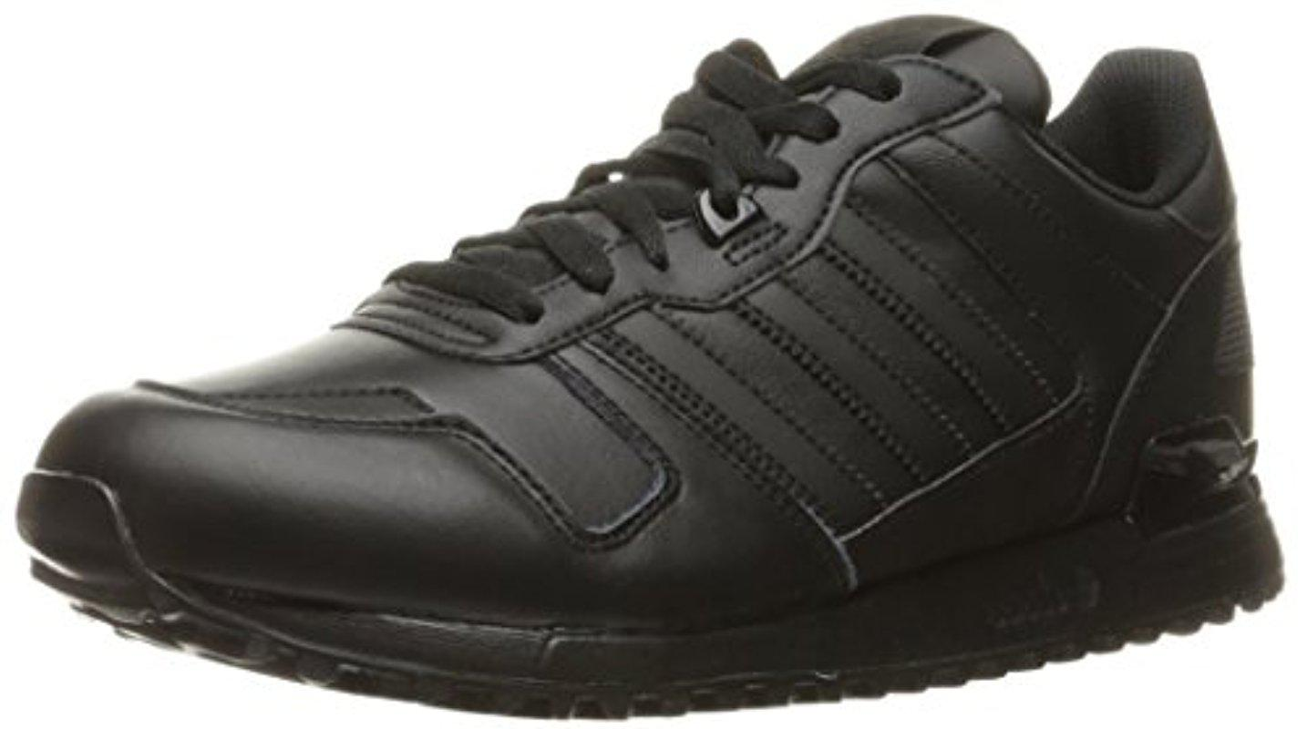 adidas Originals Men's ZX 700 Lifestyle Runner Sneaker Black/Black/Black