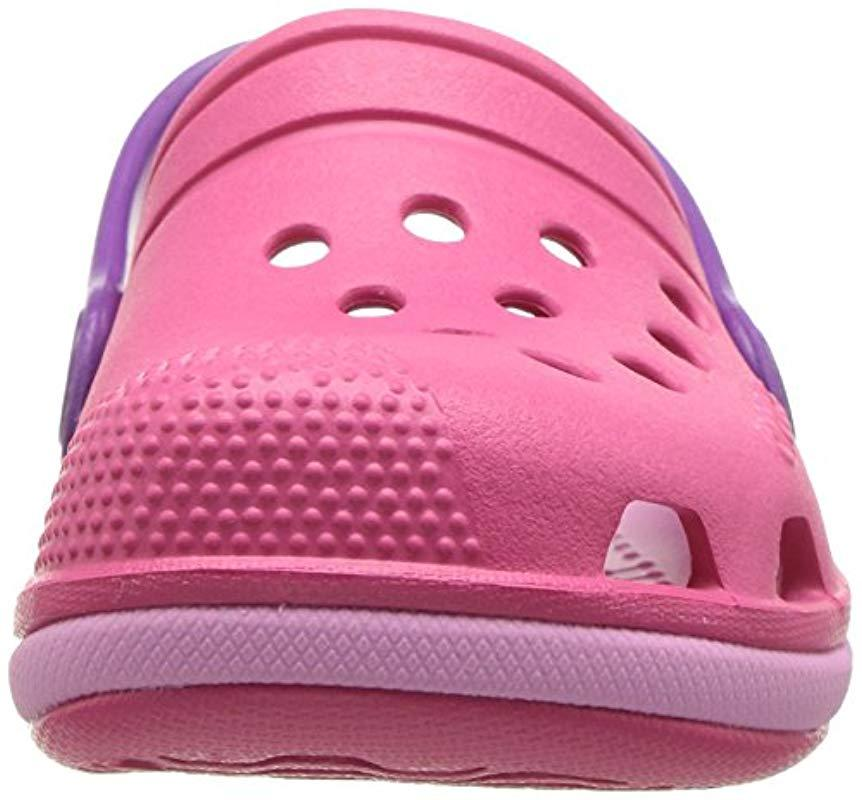Electro III Clog Kids Crocs�?de color Rosa