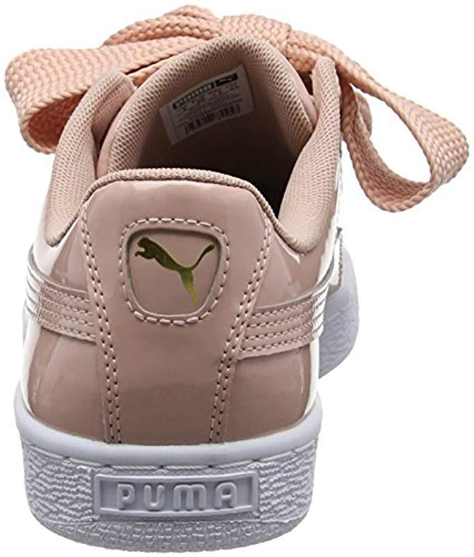 0de25d69adcd Puma  s Basket Heart Patent Wn s Low-top Sneakers in Natural - Save  10.416666666666671% - Lyst