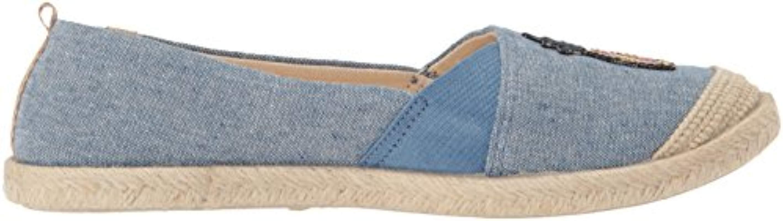 Roxy Linen Flora Slip On Shoe Sneaker in Chambray (Blue)