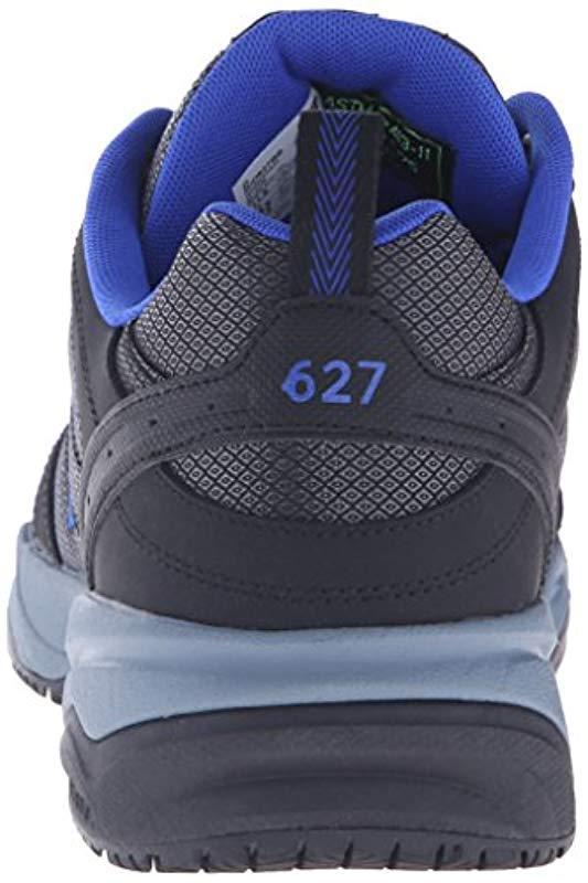 9e7715412b78c New Balance Black Steel Toe 627 Suede Cross-trainer Shoe for men