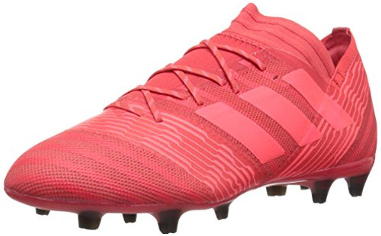 lyst adidas originali nemeziz fg scarpa da calcio, coral / rosso