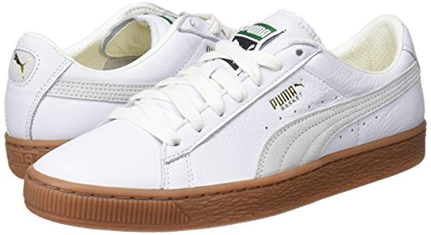 puma basket classic gum deluxe trainers