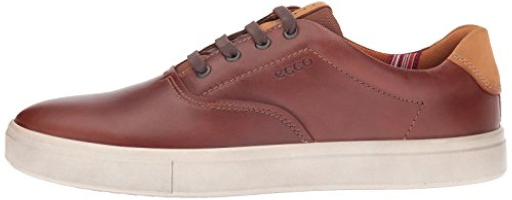 Ecco Leather Kyle Retro Fashion Sneaker
