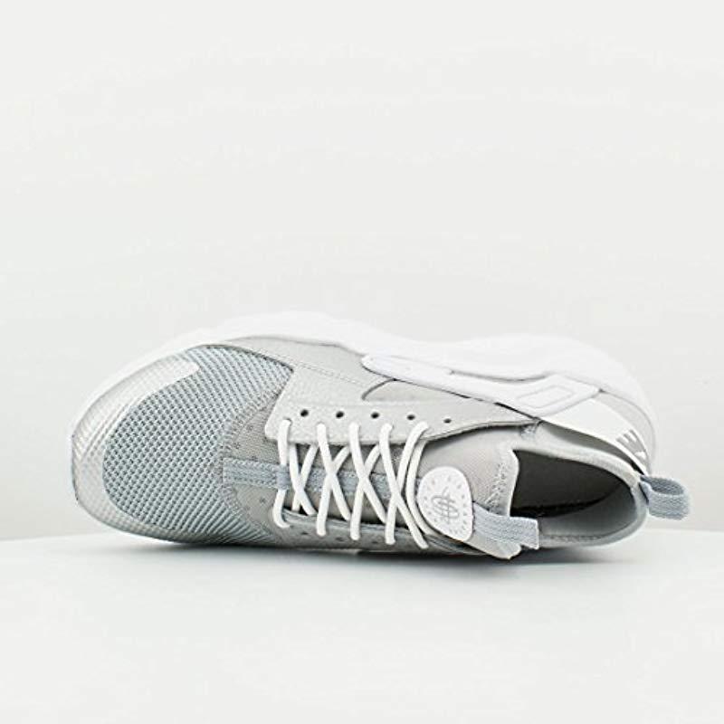 Boys/' Nike Air Huarache Run Ultra GS Shoe 847569-012 METALLIC SILVER//METALLIC